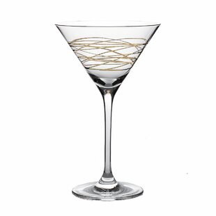 Wadebridge Martini 7 oz. Glass Cocktail Glass (Set of 4)