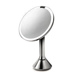 Sensor Makeup Mirror 8 Round, 5x Magnification, Stainless Steel simplehuman