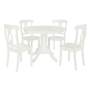 White Kitchen Table Chairs White kitchen dining room sets youll love wayfair gaskell 5 piece dining set workwithnaturefo