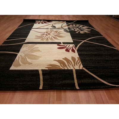 Hand Carved Black Area Rug Ty