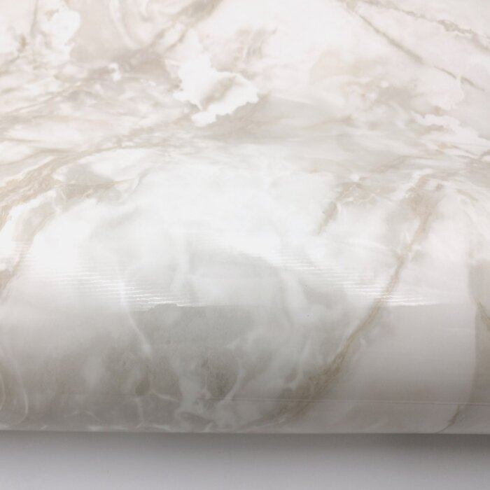 Vandeventer Glossy Marble Paper Kanpur 65 L X 24 W Peel And Stick Wallpaper Roll