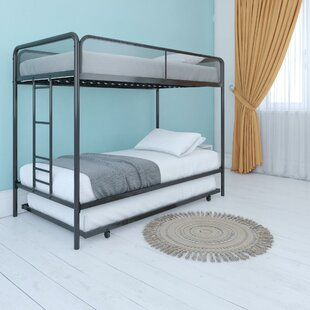 Cheryll Twin over Twin Bunk Bed with Trundle