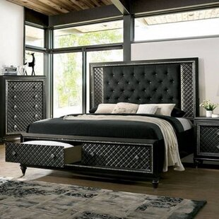 Monaco Solid Wood and Upholstered Storage Platform Bed by Rosdorf Park