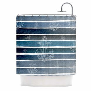 'Marine II' Single Shower Curtain