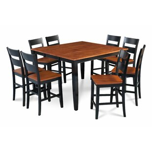 Bennet Solid Wood 9 Piece Solid Wood Dining Set Alcott Hill