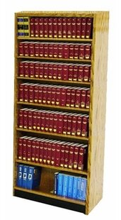 Open Back Single Face Standard Bookcase by W.C. Heller No Copoun