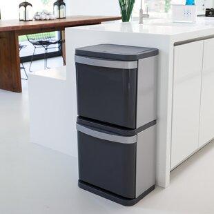 Sort² Steel Touch Top Recycling Bin