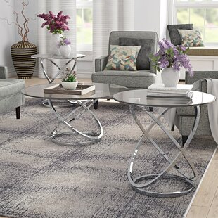 Barbieri 3 Piece Coffee Table Set by Orren Ellis