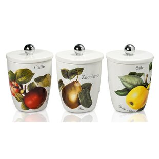 Vivere 3 Piece Coffee, Tea, & Sugar Set by Intrada Italy Comparison