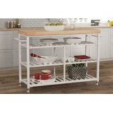 Droitwich Kitchen Island with Solid Wood Top by August Grove®