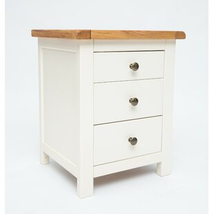 Chavis 3 Drawer Bedside Table By August Grove