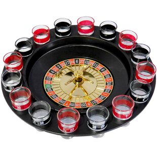 Evelots Casino Shot Glass Roulette Drinking Game Set with 16 Shot Glasses by Evelots