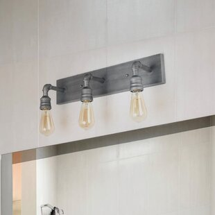Williston Forge Mutchler Water Pipe Wall 3-Light Vanity Light