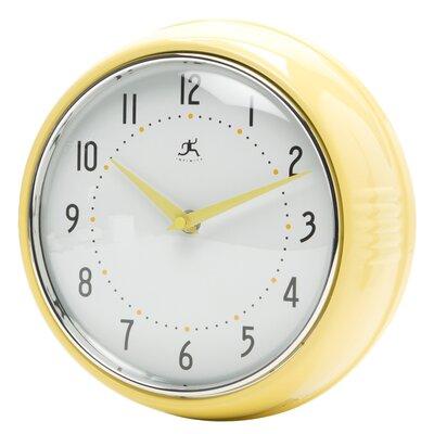 Brayden Studio Maysonet 9.5 Wall Clock Finish: Aura