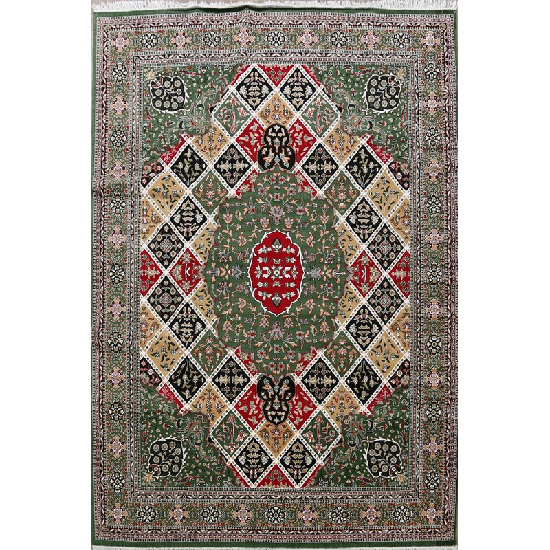 Rugsource Power Loom Green Red Beige Rug Wayfair