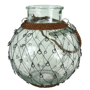 Great Price Glass Lantern with Handle By Breakwater Bay
