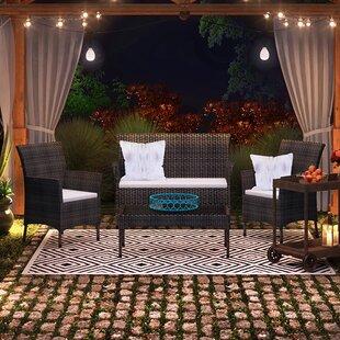 Bentz 4 Piece Sectional Set with Cushions by Brayden Studio