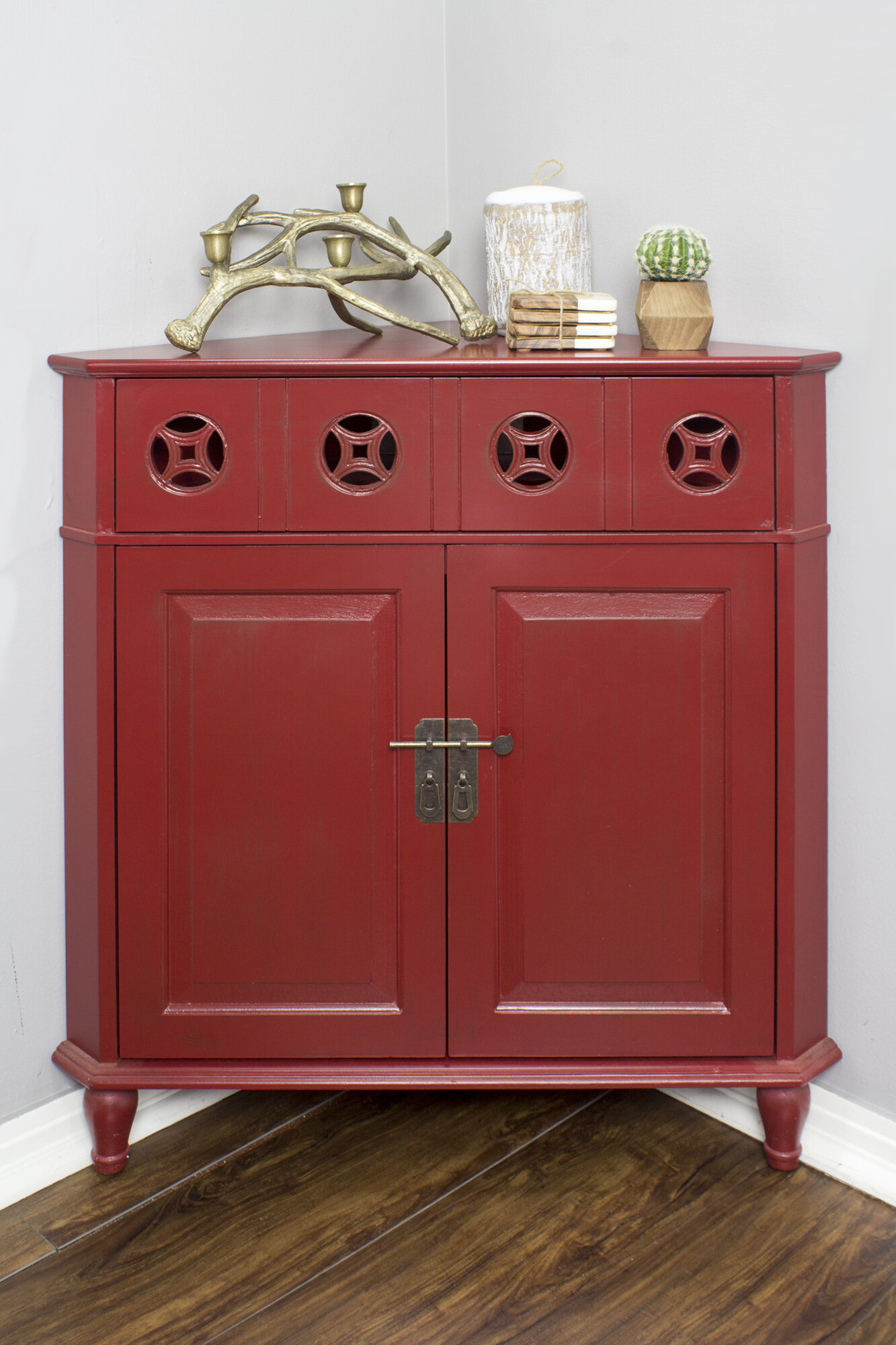Corner Red Cabinets Chests You Ll Love In 2021 Wayfair