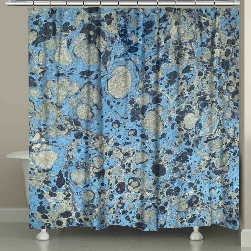 Ebern Designs Hartsell Marble Single Shower Curtain Wayfair