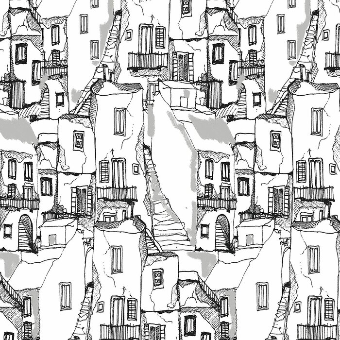 Weingartner 32 7 L X 20 5 W Sketched Houses Textured Wallpaper Roll