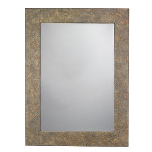 Read Reviews Eggshell Rectangle Bathroom/Vanity Wall Mirror By World Menagerie