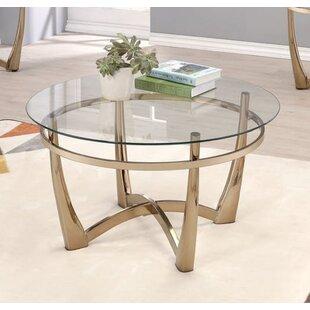 Jauss Contemporary Round Living Room Coffee Table