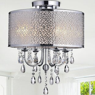 Mclain 4-Light Semi Flush Mount by House of Hampton