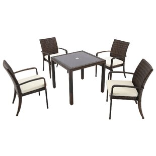 Gallardo 5 Piece Dining Set with Cushions