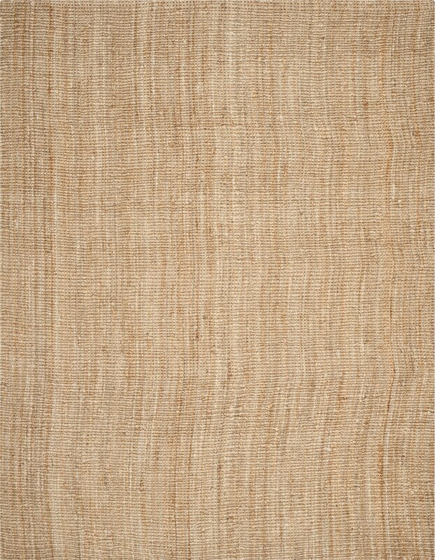 Hand-Woven Natural Area Rug #juterug #jute #arearug