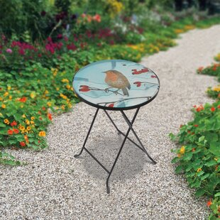 Handpainted Fusion Glass Etagere Plant/Telephone Table by Peaktop