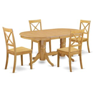 Rockdale 5 Piece Solid Wood Dining Set DarHome Co