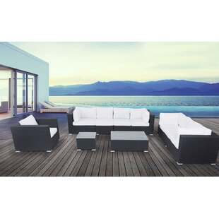 7 Piece Sofa Set with Cushions