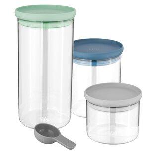 Leo 3 Piece Glass Food Storage Container Set