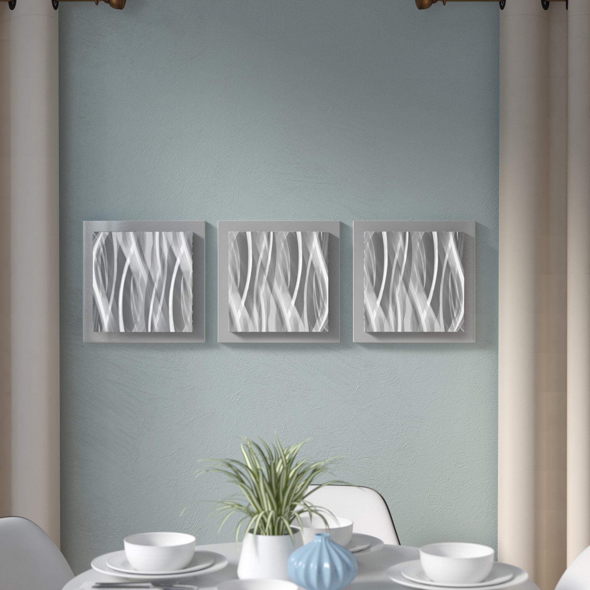 Orren Ellis 3 Piece Modern Essence Wall