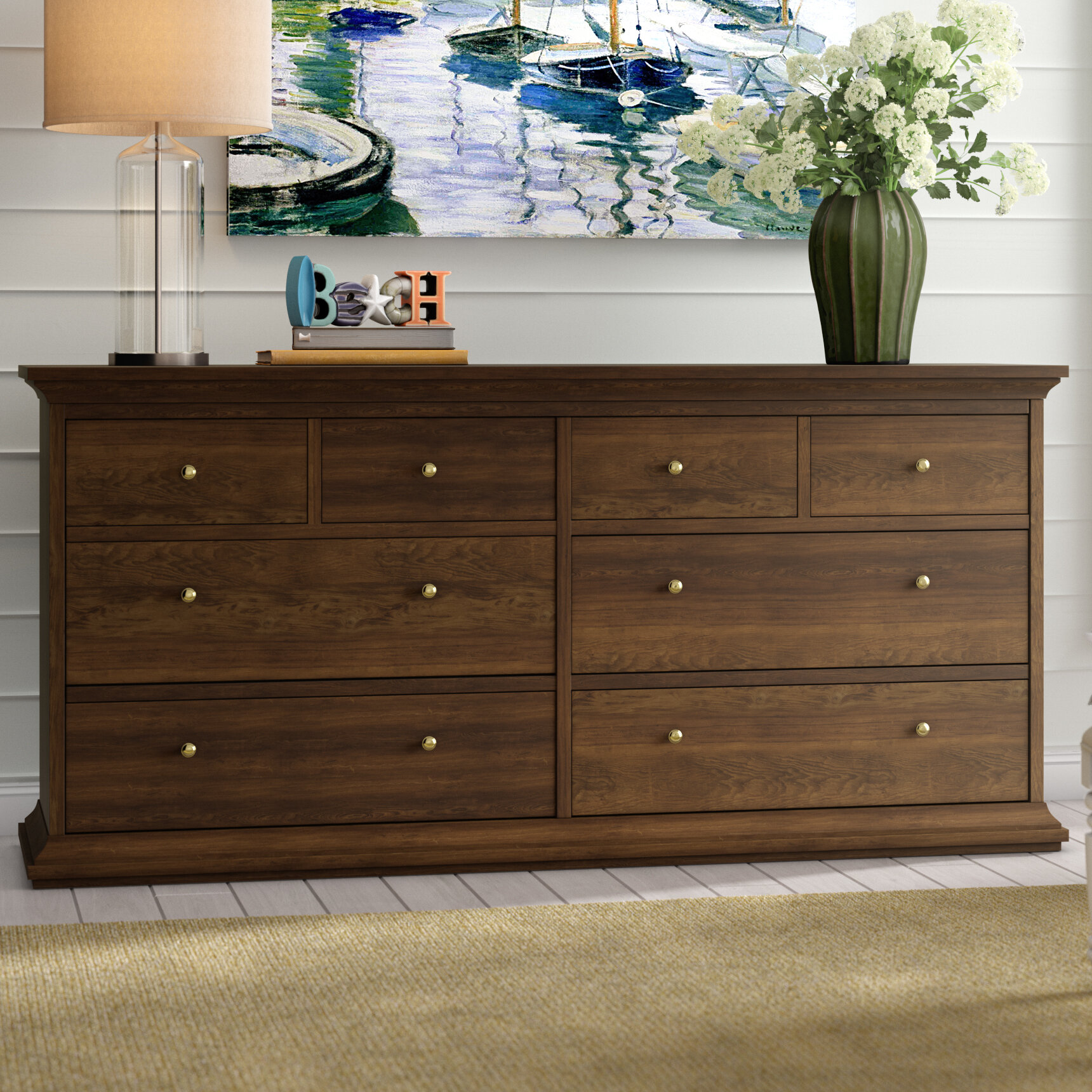 Beachcrest Home Breckenridge 8 Drawer Double Dresser Reviews
