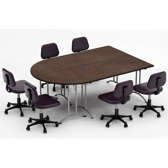Team Tables Meeting Seminar Piece HalfRound H X W X L - Half circle conference table