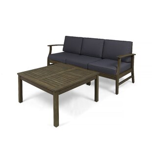 Bridgers Outdoor 4 Piece Sofa Seating Group with Cushions