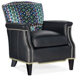 Vincent 29 W Genuine Leather Down Cushion Armchair by Bradington-Young