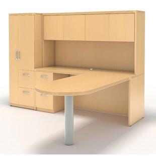 Mayline Group Aberdeen L-Shape Desk Office Suite