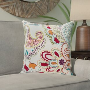 Earnhardt Colorful Paisley Throw Pillow