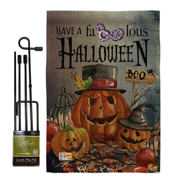 Breeze Decor Faboolous Fall Halloween Impressions 2 Sided Polyester 18 5 X 13 In Flag Set Wayfair
