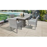 Michaela 5 Piece Dining Set with Cushions