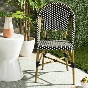 Gentofte Indoor Outdoor French Bistro Stacking Patio Dining Chair (Set Of 2)