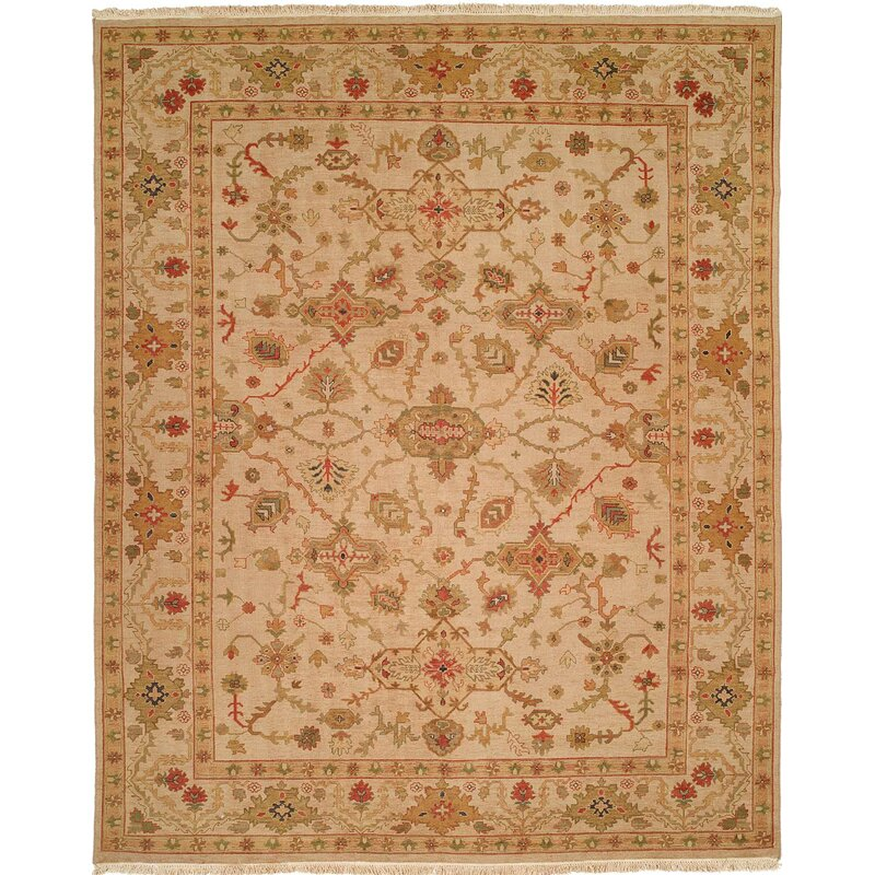 Wildon Home Oriental Hand Knotted Wool Beige Area Rug Wayfair