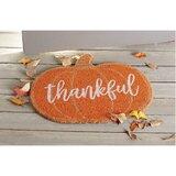 Thankful Pumpkin Thanksgiving Fall Doormat