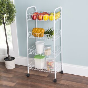 4-Tier Kitchen Cart Home Basics