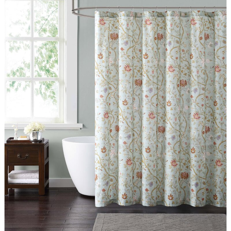 Laurel Foundry Modern Farmhouse Upton Cotton Single Shower Curtain Reviews Wayfair