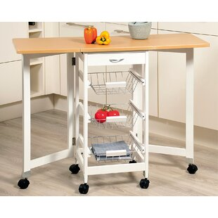 Tammy Kitchen Trolley With Wood Top By Kesper