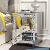 Vonnie 4 Legs 3-Drawer End Table by Rosdorf Park