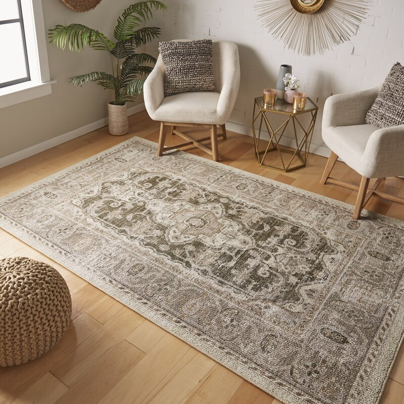 Canora Grey Washburn Neutral Oriental Hooked Light Gray Area Rug Reviews Wayfair